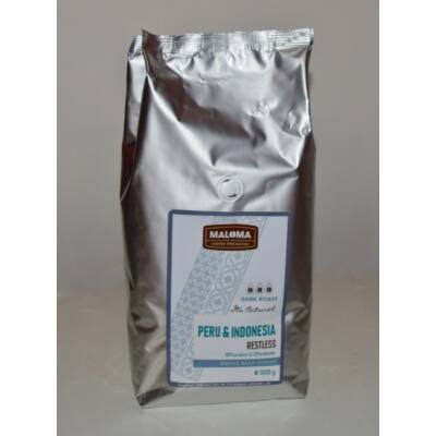 Maloma - Restless 1kg szemes kávé Peru - Indonesia