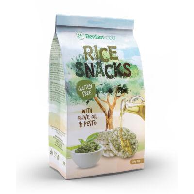 RICE SNACK Pesto gluténmentes zöldséges rizs snack 50 g