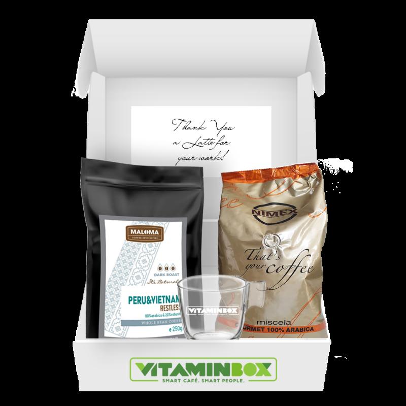 Home Office Box Coffee Club Box kávéelőfizetés kávécsomag Vitaminbox